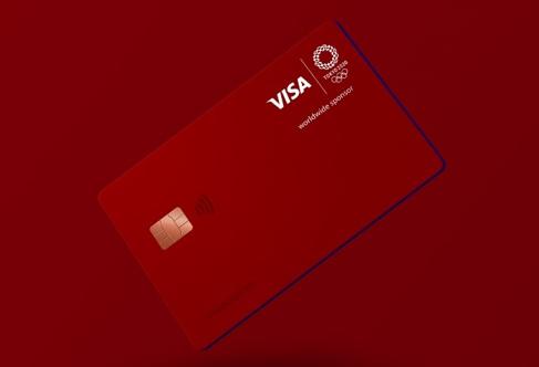 LINE PayのVISAクレジットカード オリンピック限定スペシャルデザイン